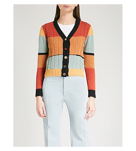 JOSEPH Striped wool cardigan (Multicolor