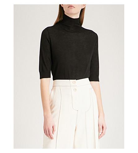 JOSEPH Cashair turtleneck cashmere jumper (Black