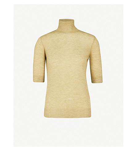 JOSEPH Cashair turtleneck cashmere top (Pea
