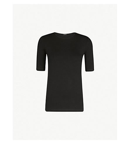 JOSEPH Slim-fit jersey T-shirt (Black
