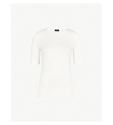 JOSEPH Slim-fit jersey T-shirt (Ecru