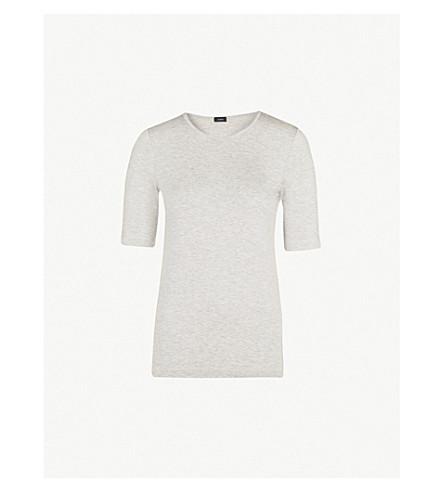 JOSEPH Slim-fit jersey T-shirt (Grey+chine