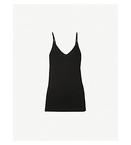 JOSEPH V-neck sleeveless jersey camisole (Black