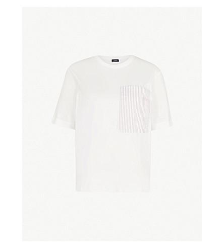 JOSEPH Striped cotton-jersey T-shirt (Beige