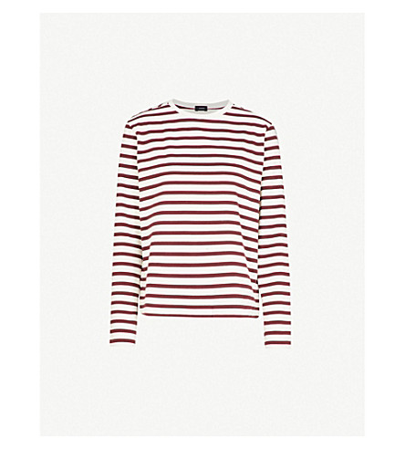 JOSEPH Striped cotton-jersey top (Morgon