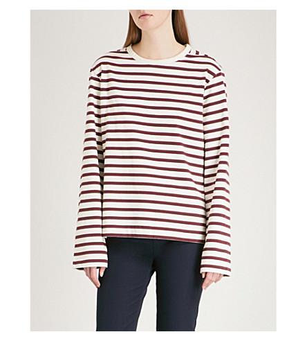 JOSEPH Striped cotton-jersey top (Morgon