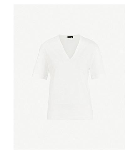 JOSEPH V-neck cotton-jersey T-shirt (Off+white