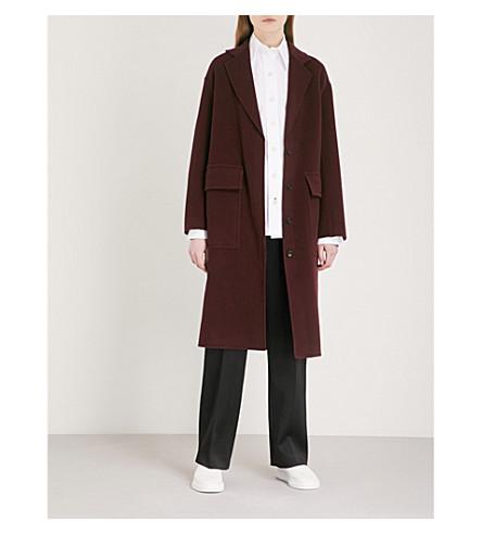 JOSEPH Asymmetric wool and cashmere-blend coat (Morgon