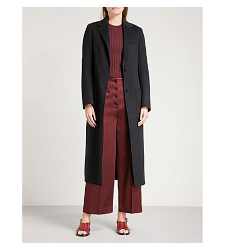 JOSEPH Marvil wool and silk-blend coat (Navy