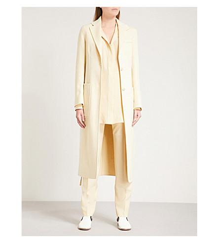 JOSEPH Archi wool and silk-blend coat (Custard