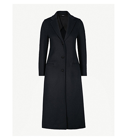 JOSEPH Archi cotton and silk-blend coat (Navy