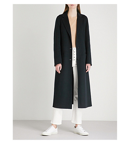 JOSEPH Archi cotton and silk-blend coat (Navy