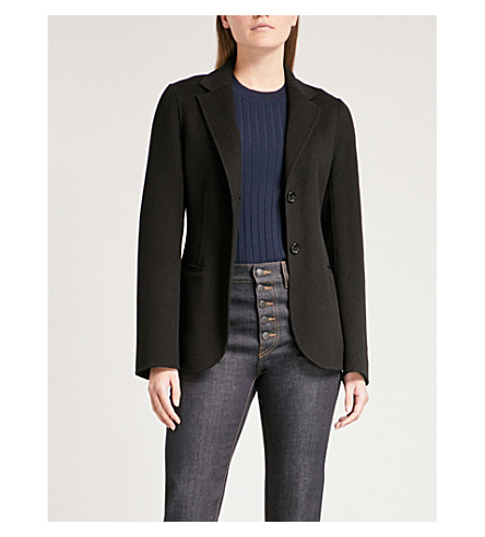 JOSEPH Archi wool and cashmere-blend jacket (Black