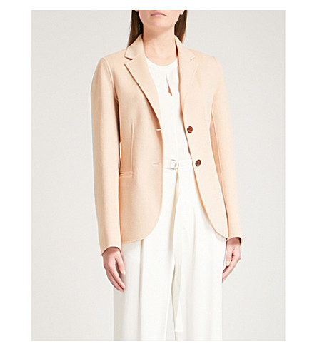 JOSEPH Archi wool and cashmere-blend jacket (Camel