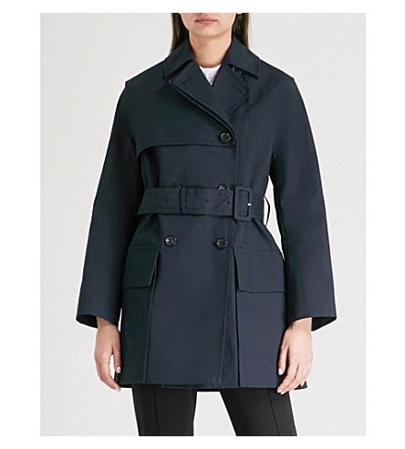 JOSEPH Aquila cotton trench coat (Navy