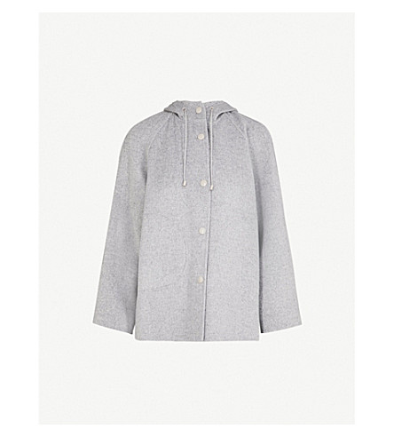 JOSEPH Rowen wool and cashmere-blend coat (Grey+chine