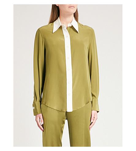 JOSEPH New-Garçon silk-crepe shirt (Pea