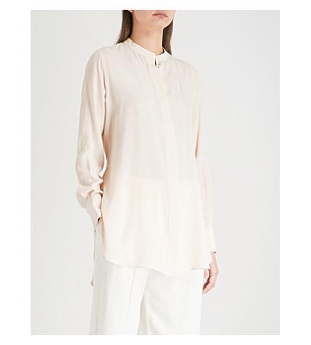 JOSEPH Carla silk-crepe de chine blouse (Pearl