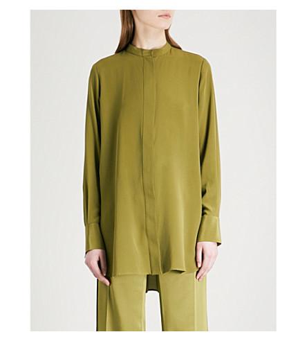 JOSEPH Carla silk-crepe blouse (Pea