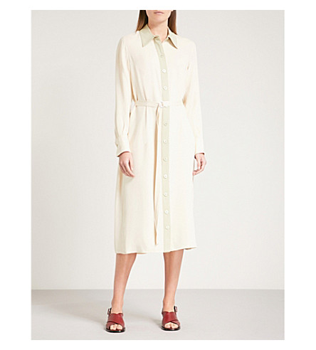 JOSEPH Lucas silk dress (Custard