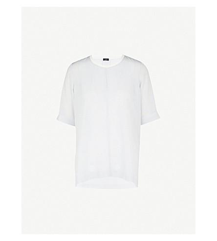 JOSEPH Miro stretch-crepe blouse (Navy