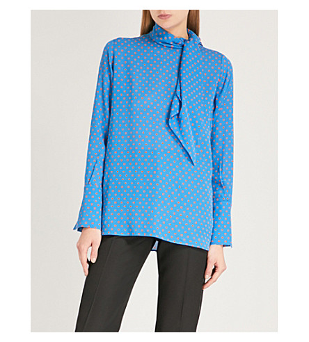 JOSEPH Polka dot-print silk blouse (Eton