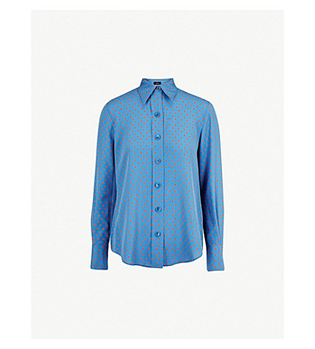 JOSEPH Polka dot silk-crepe blouse (Eton