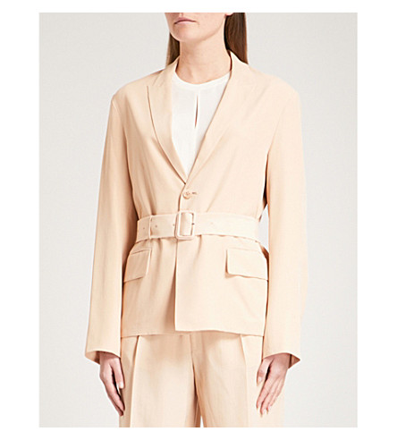 JOSEPH Alex silk jacket (Stucco