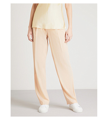 JOSEPH High-rise silk-toile pants (Stucco