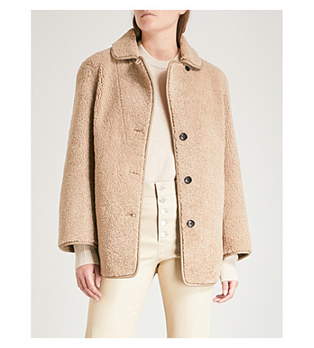JOSEPH Holm sheepskin jacket (Tobacco