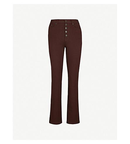 JOSEPH Den straight tapered stretch-gabardine trousers (Morgon
