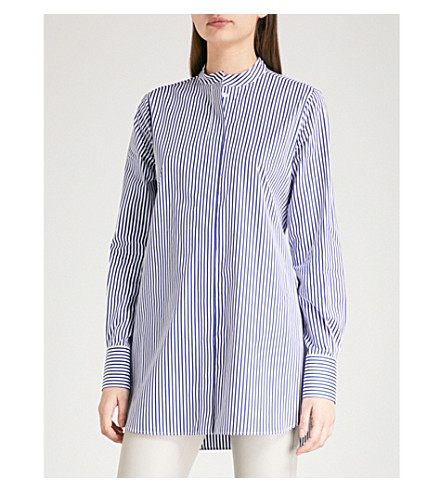 JOSEPH Striped cotton blouse (Marine
