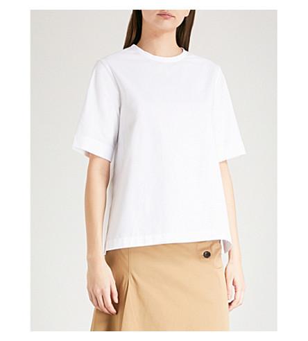 JOSEPH Button-back cotton-poplin blouse (White