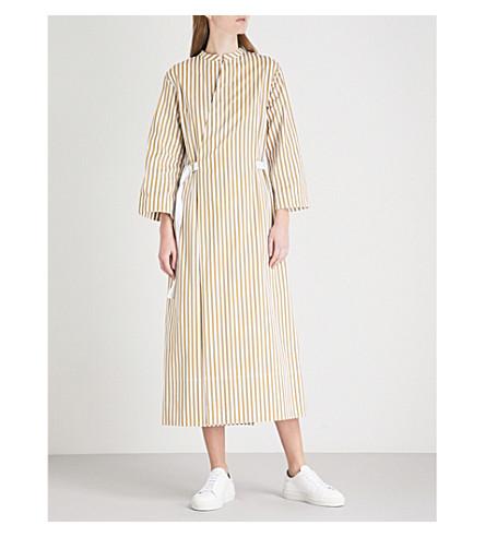 JOSEPH Laury Candy Stripe cotton dress (Tawny