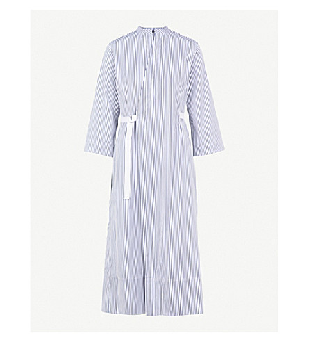 JOSEPH Laury Candy Stripe cotton dress (Ink