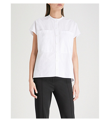 JOSEPH Isaac cotton shirt (White