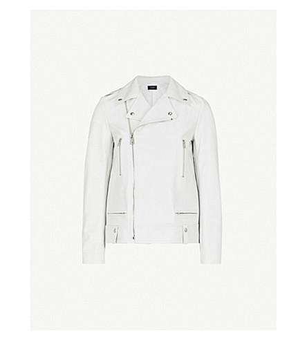 JOSEPH Ryder Leather Biker Jacket (White
