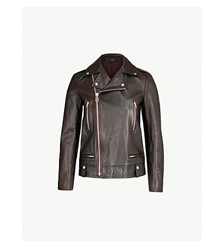 JOSEPH Ryder Leather Biker Jacket (Morgon