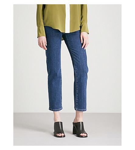JOSEPH Den slim-fit-straight high-rise jeans (Indigo