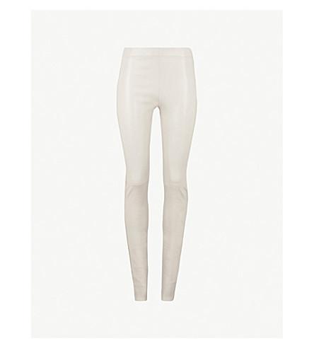 JOSEPH Skinny leather pants (Grey