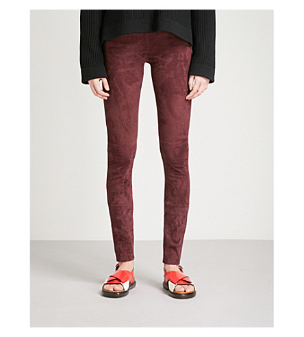 JOSEPH Panelled suede leggings (Morgon