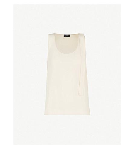 JOSEPH Tye silk-crepe de chine blouse (Pearl