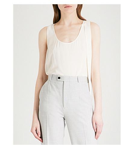 JOSEPH Tye silk-crepe de chine blouse (Ecru