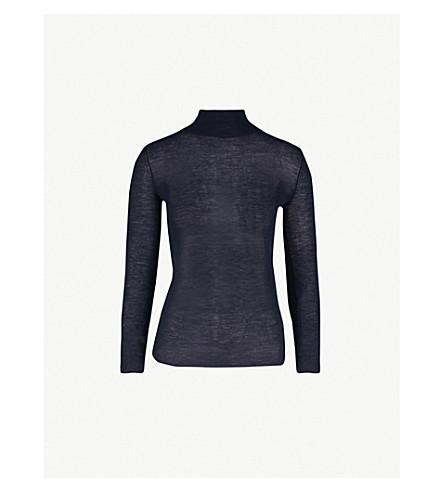 JOSEPH Cashair turtleneck cashmere jumper (Navy