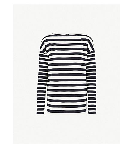 JOSEPH Breton striped cotton-jersey top (Navy/ecru