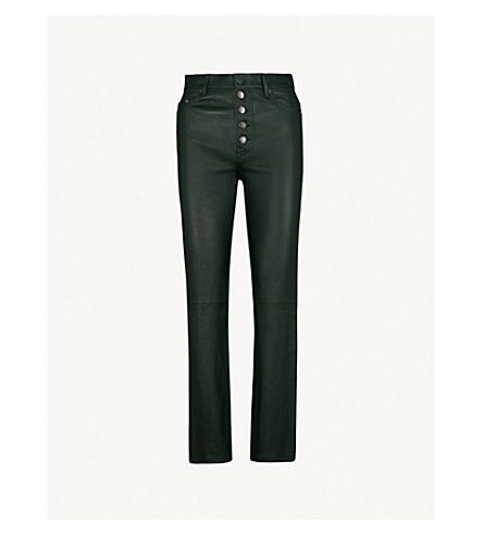 JOSEPH Den high-rise stretch-leather trousers (Bermuda