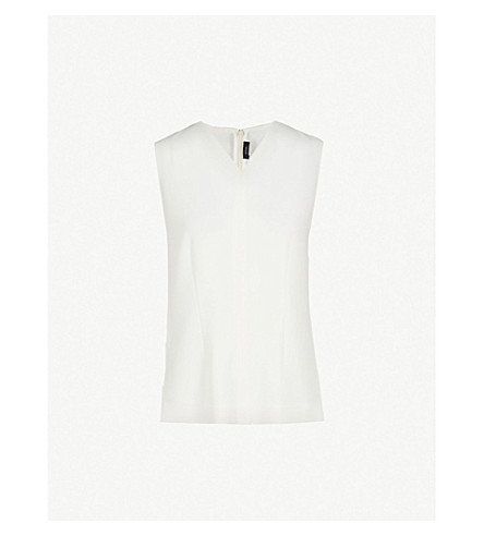 JOSEPH Cecily crepe blouse (Off+white
