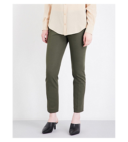 JOSEPH Finley stretch-gabardine trousers (Army