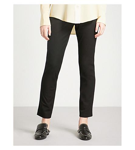 JOSEPH Eliston stretch-gabardine trousers (Black