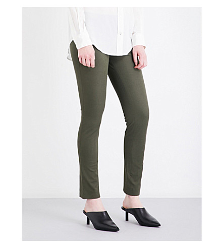 JOSEPH Eliston stretch-gabardine trousers (Army